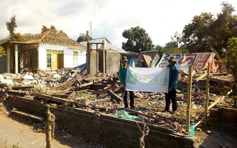90 Persen Bangunan di Desa Gondang Lombok Utara Porak Poranda, 300 KK Mengungsi