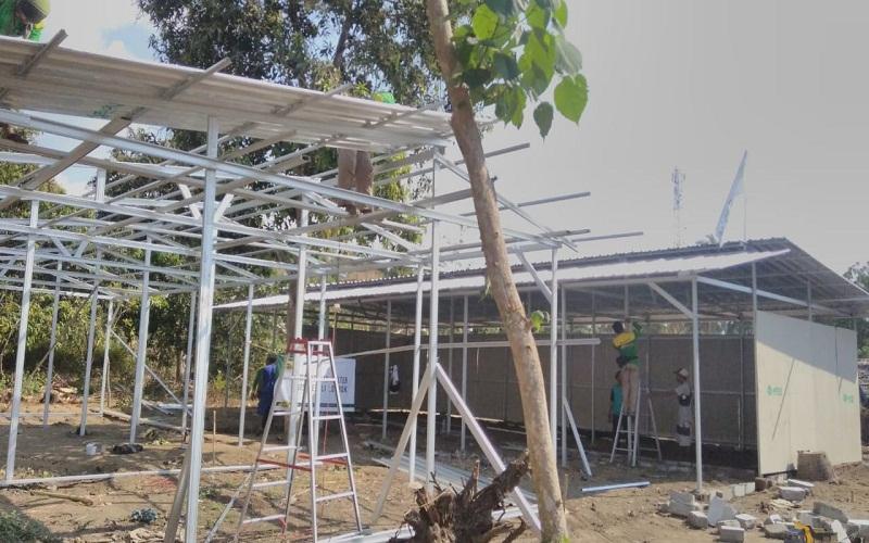 LAZGISPeduli Kebut Pembangunan Shelter di Gangga Lombok Utara
