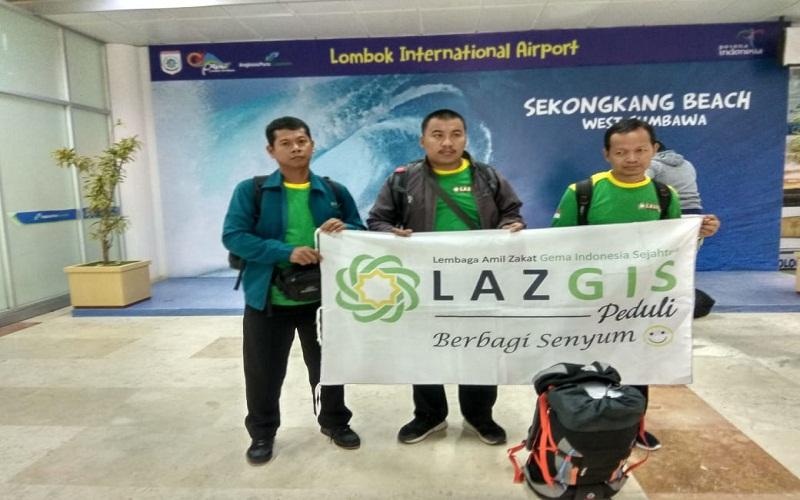Tim Rekonstruksi Fisik dan Psikis LAZGIS Tiba di Lombok
